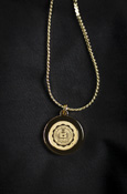 Necklace With Gold Central Michigan Seal Pendant