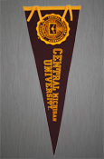 12X30 Central Michigan University Pennant W/ Seal