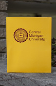 Gold 2 Pocket Folder - Seal With Central Michigan University
