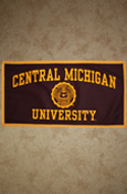 18X36 Central Michigan University Banner W/ Seal