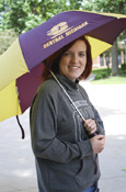 "Maroon And Gold Flying C Central Michigan 48"" Umbrella"