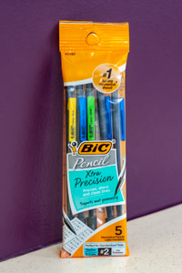 Bic 5 Assorted Xtra Precision 0.5 mm Mechanical Pencils