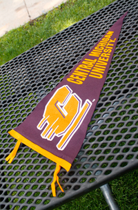 12X30 Pennant W/ 2 Clr Flying C & Cent Mich Univ