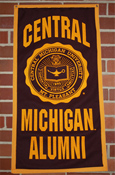 "Vertical 18X36"" Felt Banner With Alumni"