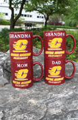 Mug - Maroon Mom, Dad, Grandma Or Grandpa Central Michigan Flying C