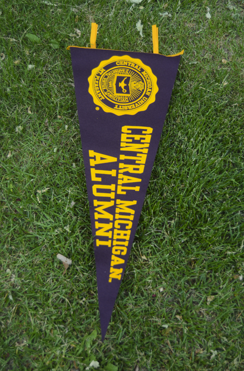 12X30 Central Michigan Alumni Pennant With Seal (SKU 1100194213)
