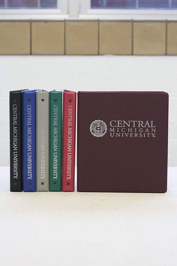 1 inch color central michigan binders the cmu bookstore