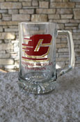 Clear Central Michigan Fight Song Glass Mug
