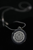Necklace With Silver Central Michigan Seal Pendant