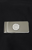 Central Michigan Seal Silver Money Clip