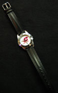 Ladies Sport Maroon And Gold Watch