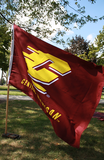 3X5 Flying C Central Michigan Silk Screened Flag Double Sided With Liner (SKU 1138876045)