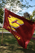 3X5 Flying C Central Michigan Silk Screened Flag Double Sided With Liner