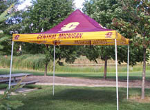 Maroon And Gold 9' X 9' Canopy W/ Central Michigan