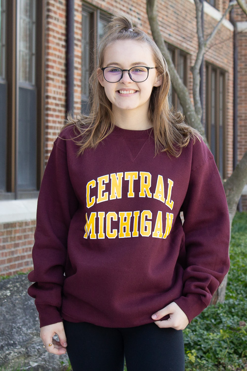Arched Central Michigan Maroon Crew<br><small></small>