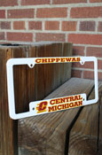 White Chippewas Central Michigan License Frame