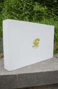 "15X9 WHITE GIFT BOX WITH GOLD FLYING ""C"""