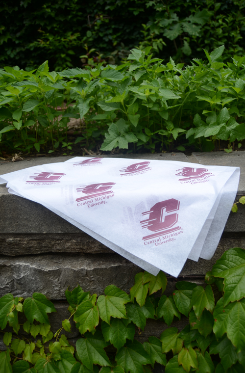 20X30 White Tissue Paper With Maroon Flying C (SKU 1151527213)