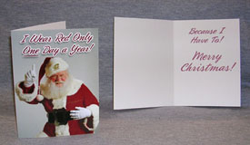 *Sale* 25 Holiday Cards With Cmu Santa Hat