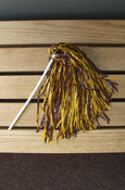Maroon And Gold Pom Pon On Stick