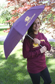 "Maroon Flying C Central Michigan With Gel Handle 42"" Umbrella"