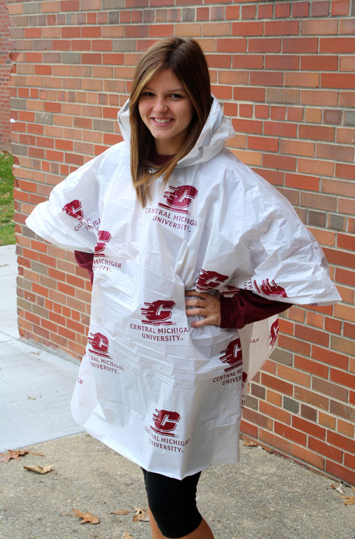 Central Michigan Recyclable Hooded Poncho (SKU 1159687560)