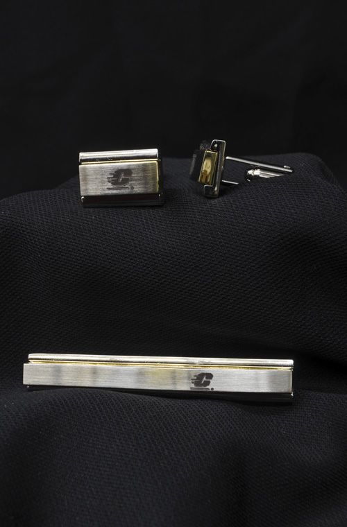 Flying C Cuff Links And Tie Tack (SKU 1166186331)