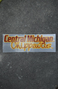 "Central Michigan With Script Chippewas Decal Approx. 7""X2.5"""