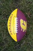 Maroon And Gold Junior Size Football W Flying C