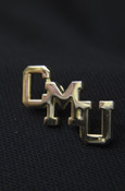GOLD PLATED CMU LAPEL PIN