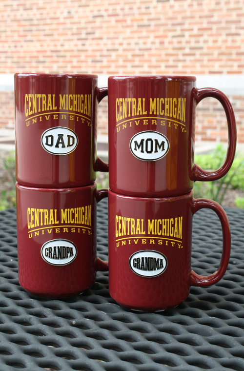 Arched Central Michigan University Medallion Maroon Mug -Mom, Dad, Grandma, Grandpa (SKU 1174710922)
