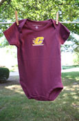 Maroon Flying C Logo Onesie
