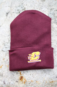 Flying C Maroon Knit Baby Cap