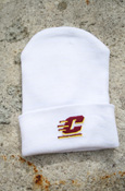 Flying C White Knit Baby Cap