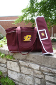 Flying C Maroon Diaper Bag With Padded Changing Pad