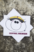 C M U Blank Notecard-Student W/Ball Cap On Front