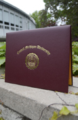C M U Maroon And Gold Diploma Cover - Top Open