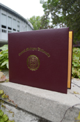 C M U Maroon And Gold Diploma Cover - Side Open