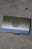 Central Michigan Seal Silver Business Card Holder