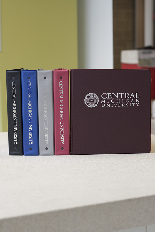 1 1/2 Inch Color Central Michigan Binders (SKU 1184950673)