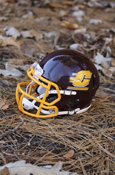 Maroon Flying C Mini Football Helmet