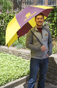"Maroon And Gold Flying C Central Michigan 62"" Umbrella"