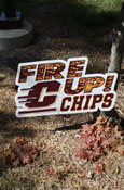 Fire Up Chips Lawn Sign