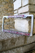 Gray And Maroon Chippewas License Frame