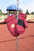 Maroon Knit Youth Mittens
