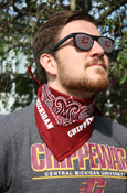 Central Michigan Chippewas Red Bandana