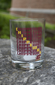 Patterned Chippewas 13.5 Oz Glass