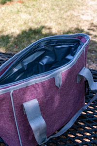 Maroon Canvas Flying C Insulated Cooler Tote