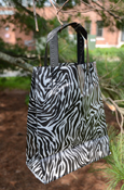 "Clear Frosted Zebra Stripes 10X8"" Gift Bag"