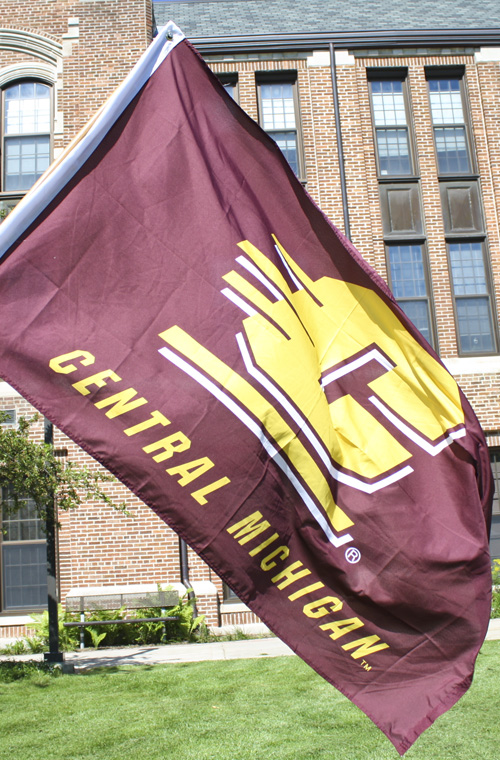 3X5 Flying C Central Michigan Silk Screened Flag With 2 Grommets (SKU 1212204245)